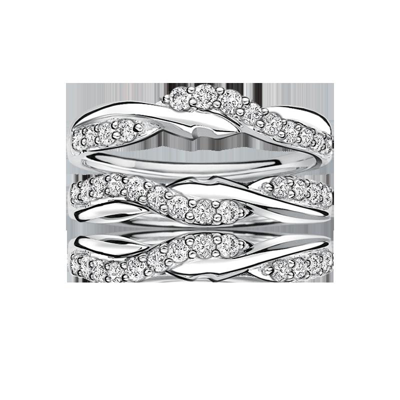 Diamond Ring Enhancer Wrap ½ctw in 14k White Gold
