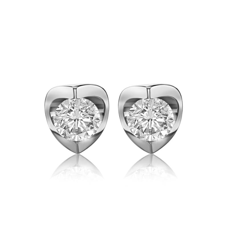 Canadian Diamond ¼ctw. Diamond Solitaire Earrings in 14k White Gold