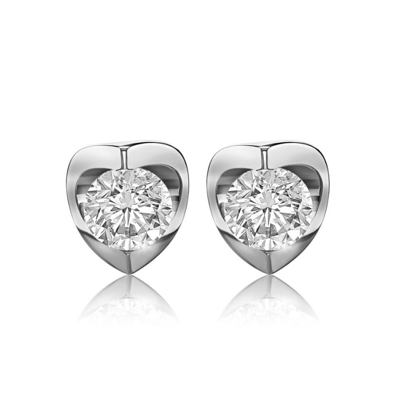 Canadian Diamond™ 1/2ctw. Diamond Solitaire Earrings in 14k White Gold