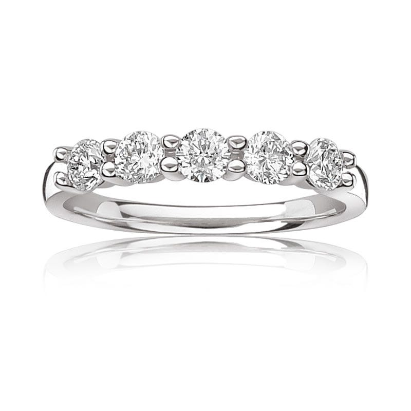 Canadian Diamond 1ct. tw. 5-Stone Diamond Anniversary Band in 14k White Gold
