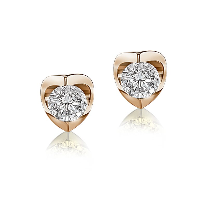 Canadian Diamond 1ctw. Solitaire Earrings in 14k Yellow Gold