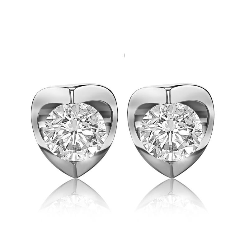Canadian Diamond™ 1½ctw. Diamond Solitaire Earrings in 14k White Gold