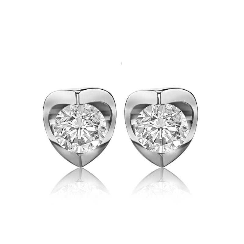 Canadian Diamond 3/4ctw. Diamond Solitaire Earrings in 14k White Gold