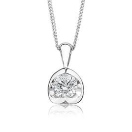 Canadian ct. Diamond Solitaire Pendant in 14k White Gold