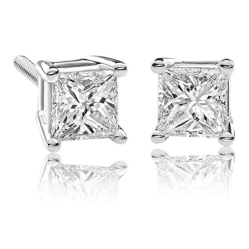 Canadian Diamond™ ½ctw. Princess-Cut Diamond Earrings in 14k White Gold