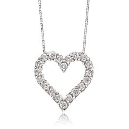 Diamond ¼ct. Heart Pendant in 10k White Gold