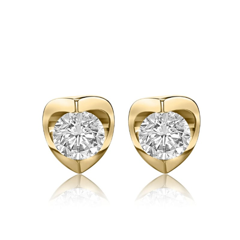 Canadian Diamond™ 3/4ctw. Diamond Solitaire Earrings in 14k Yellow Gold