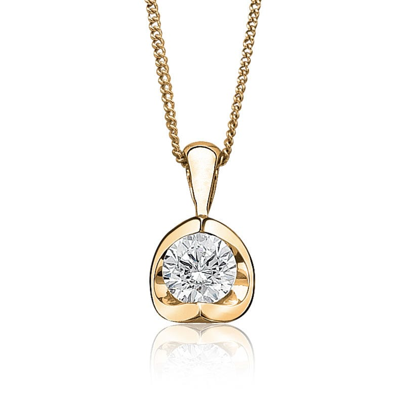 Canadian Diamond™ 1/2ct. Diamond Solitaire Pendant 14k Yellow Gold