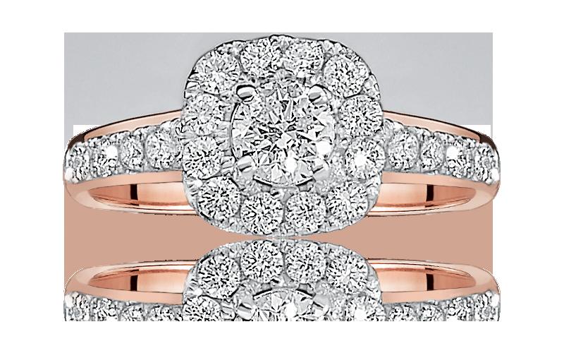 Elsa. Diamond Halo Engagement Ring