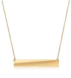 Engraveable Bar Necklace in 14k Yellow Gold