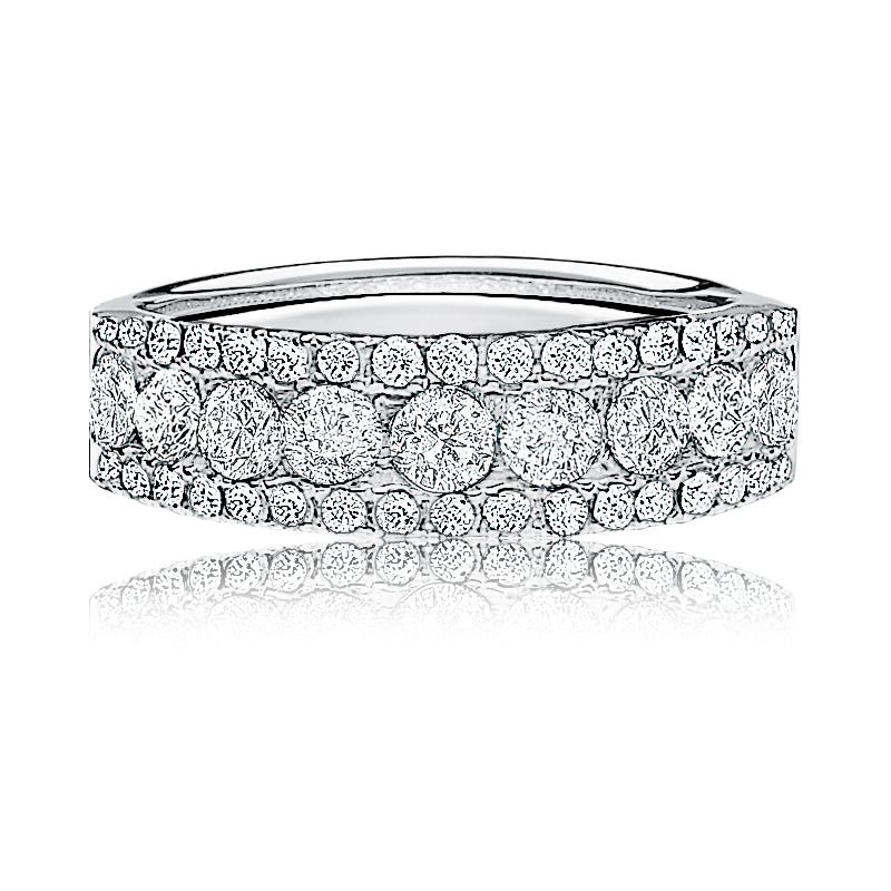 Diamond Anniversary Band 1ctw. in 14k White Gold