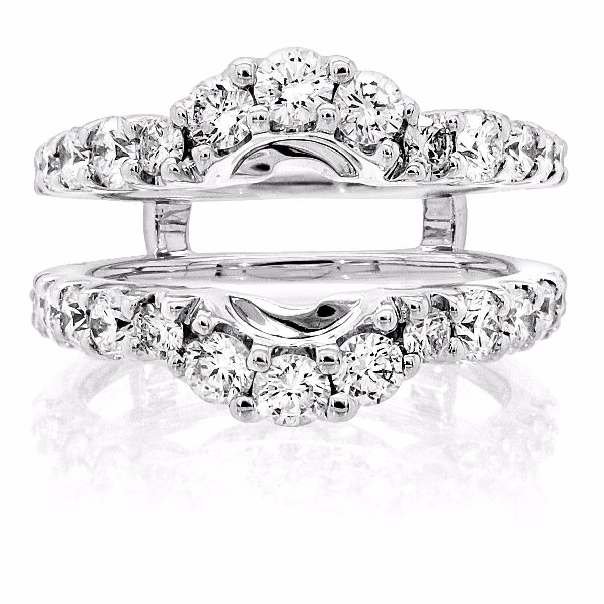 Diamond Engagement Ring Wrap Insert 1 50ctw