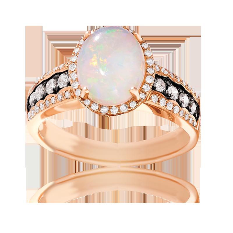 EFFY Opal & Diamond Ring in Rose Gold