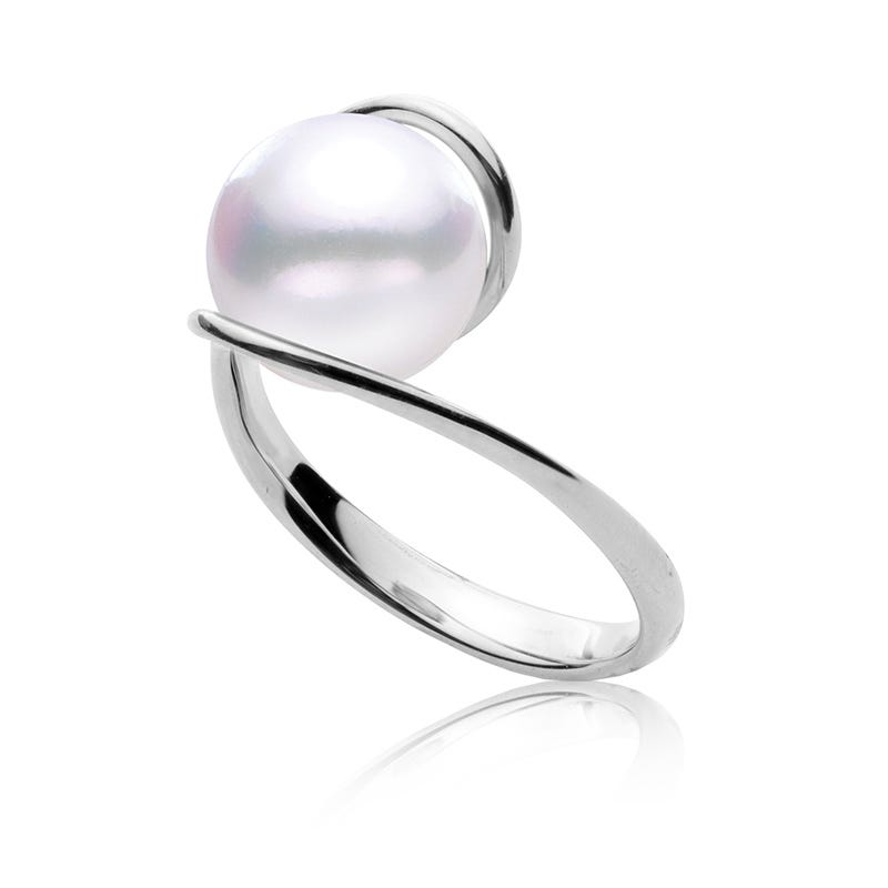 Freshwater 9MM Pearl Ring in 10k White Gold