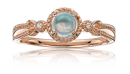 Blue Moonstone Ring in 10k Rose Gold