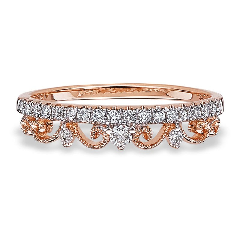 Diamond Crown-Inspired Wedding or Anniversary Band