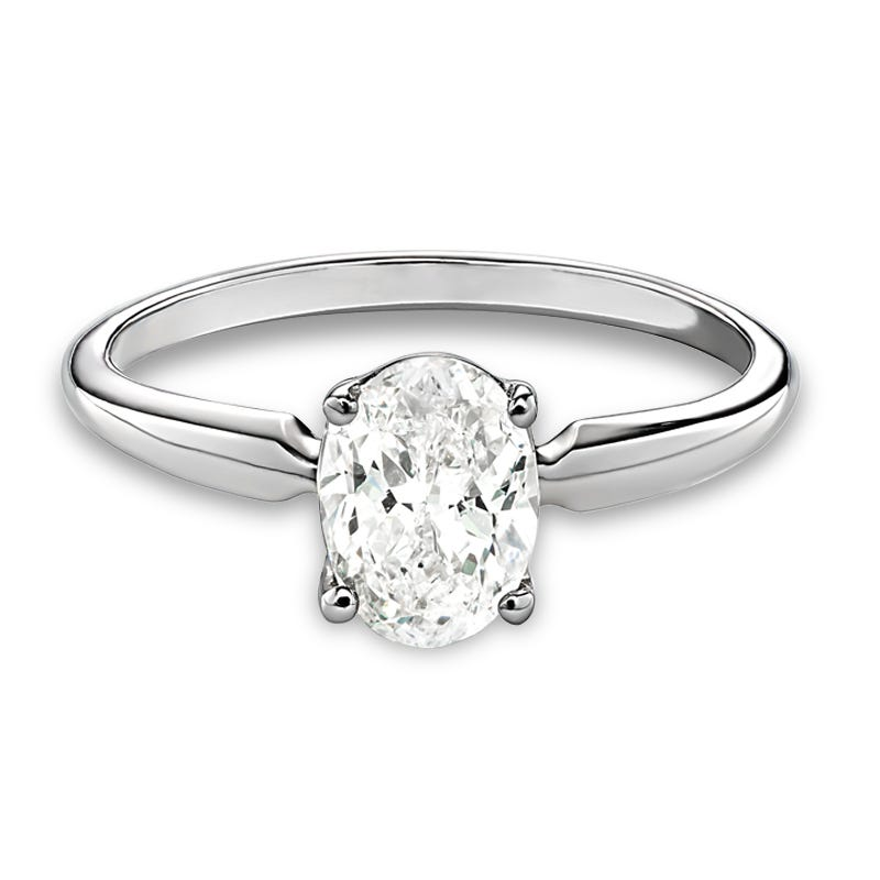 Lab-Crafted Diamond Oval 1ct. Solitaire Engagement Ring