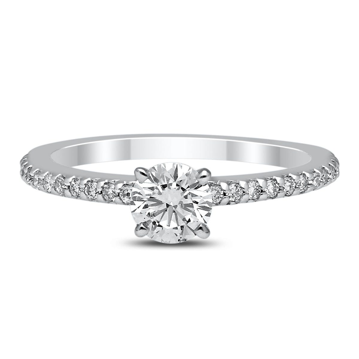 Lab-Crafted Diamond 1/2ctw. Classic Engagement Ring in 14k White Gold