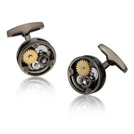 Round Bronze Tri-Color Gear Cufflinks