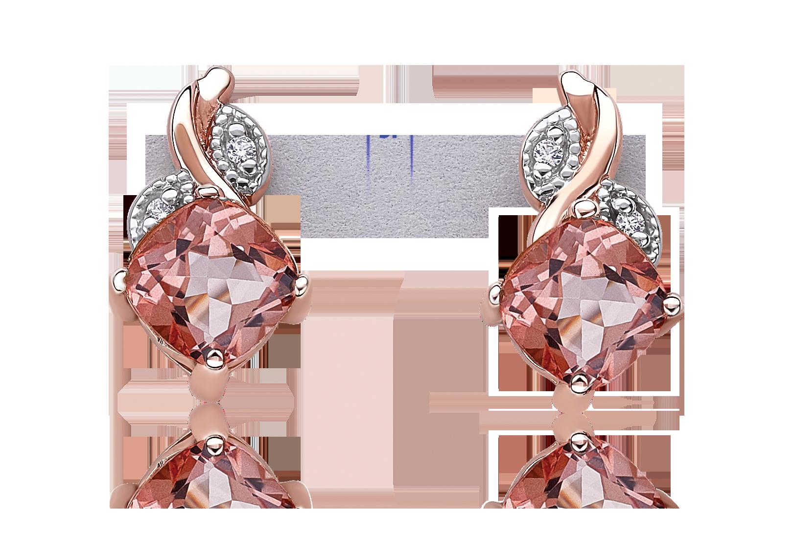 Morganaire™ Floral-Inspired Cushion-Cut Topaz & Diamond Drop Earrings