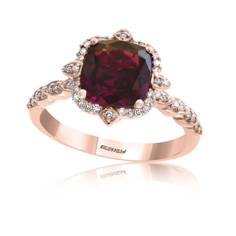 EFFY Rhod Garnet & Diamond Cocktail Fashion Ring