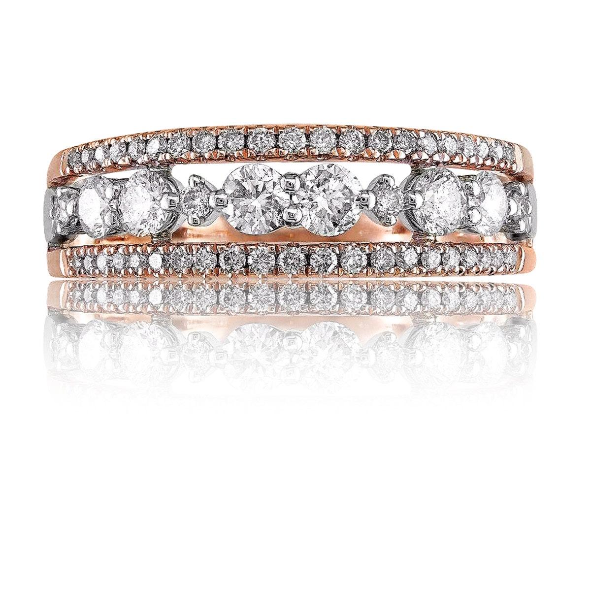 14KT Yellow Gold High Quality Round Shape 4.00 Carat Women/'s Anniversary Ring