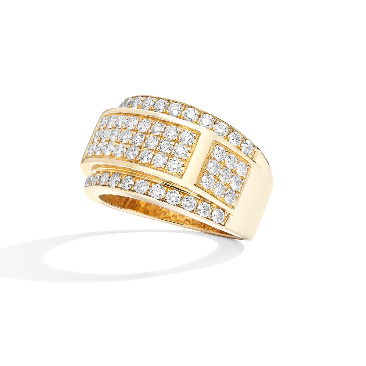 Men's Lab Grown 2 1/10ct. Diamond Ring in 14k Yellow Gold