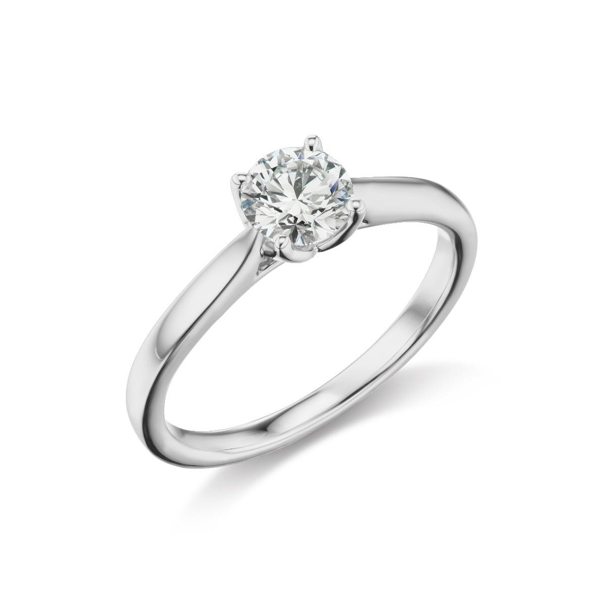 Lab Grown 1/2ct. Diamond Solitiare Engagement Ring in 14k White Gold