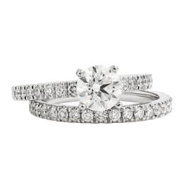 Lab Grown 1 3/4 ctw. Diamond Classic Engagement Ring & Wedding Band Set in 14K White Gold