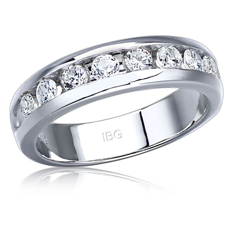 IBGoodman Men's 1ct. Diamond Band in 14k White Gold
