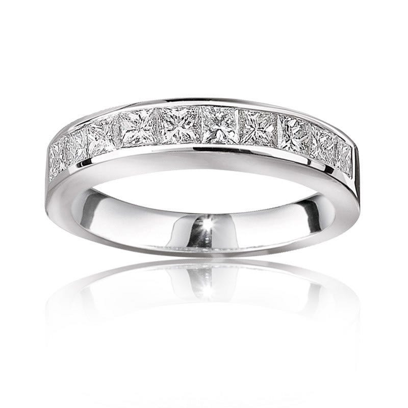 Princess-Cut Diamond Anniversary Band 1ct. T.W.14k White Gold