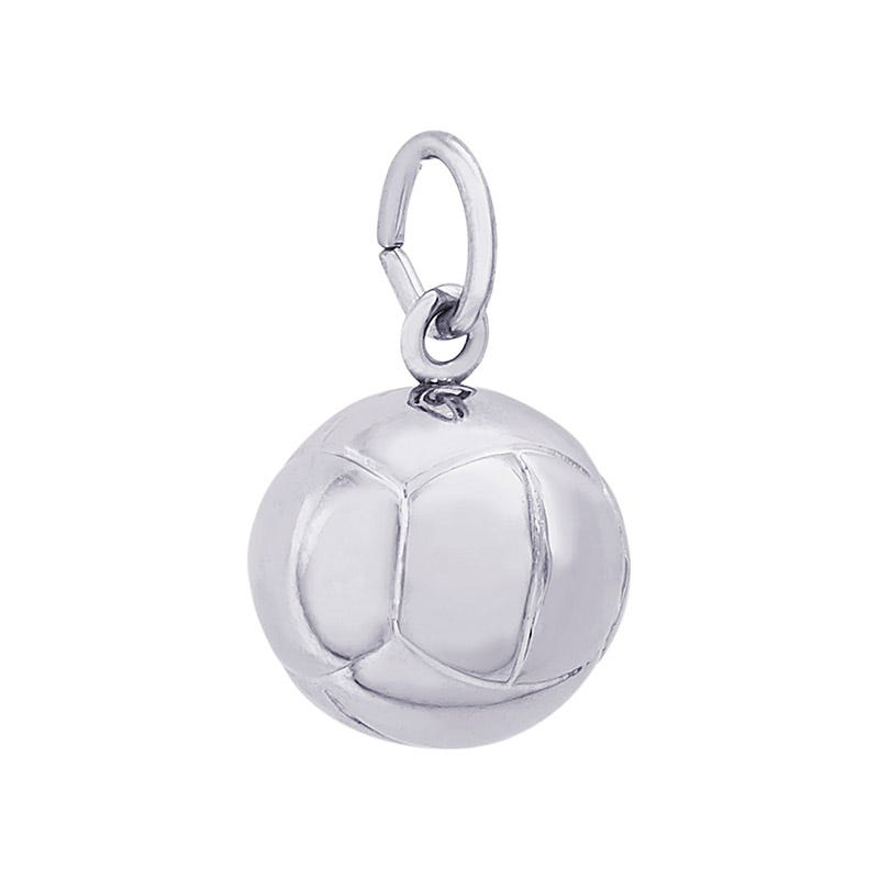 Volleyball Sterling Silver Charm