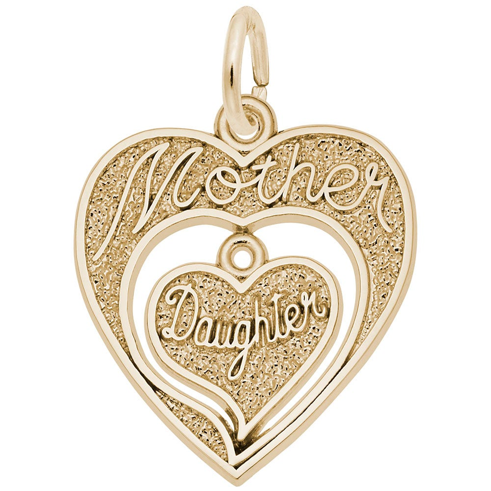 Beautiful Yellow gold 14K 14k You Are Always In My Heart Charm