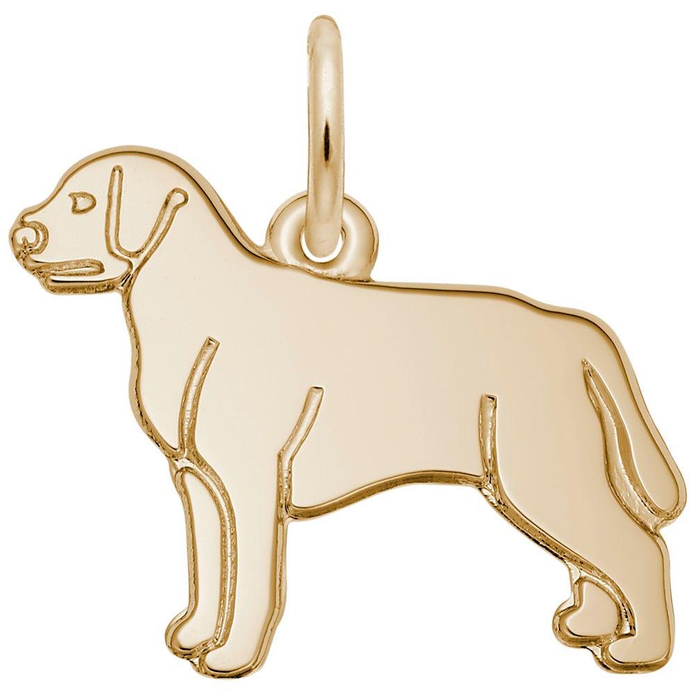 Labrador Retriever 14K Yellow Gold Charm