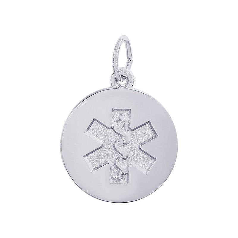 Medical Sterling Silver Charm