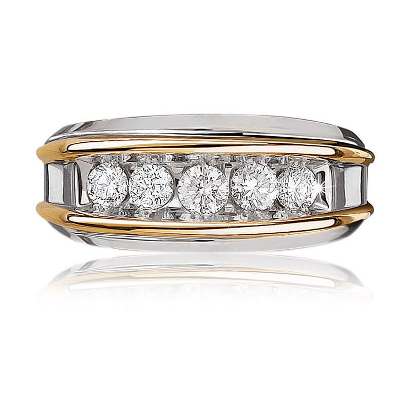 IBGoodman Men's 1ctw. 5-Stone Diamond Band in 14k Gold