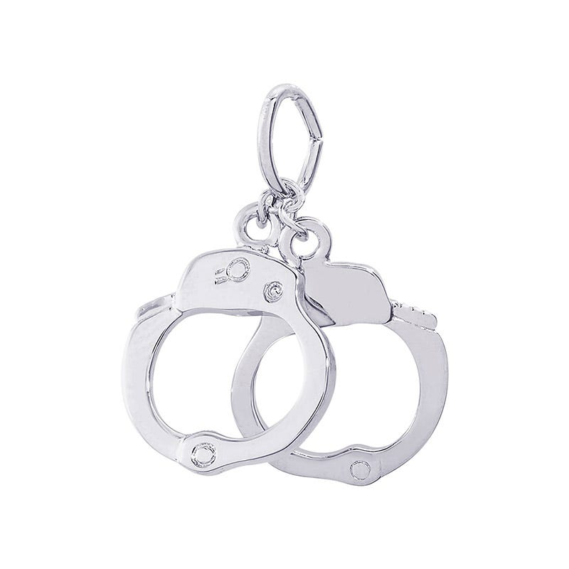 Handcuffs Sterling Silver Charm