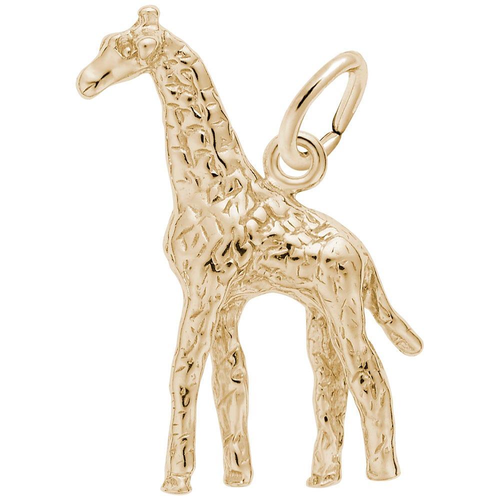 Giraffe Charm in 14k Yellow Gold