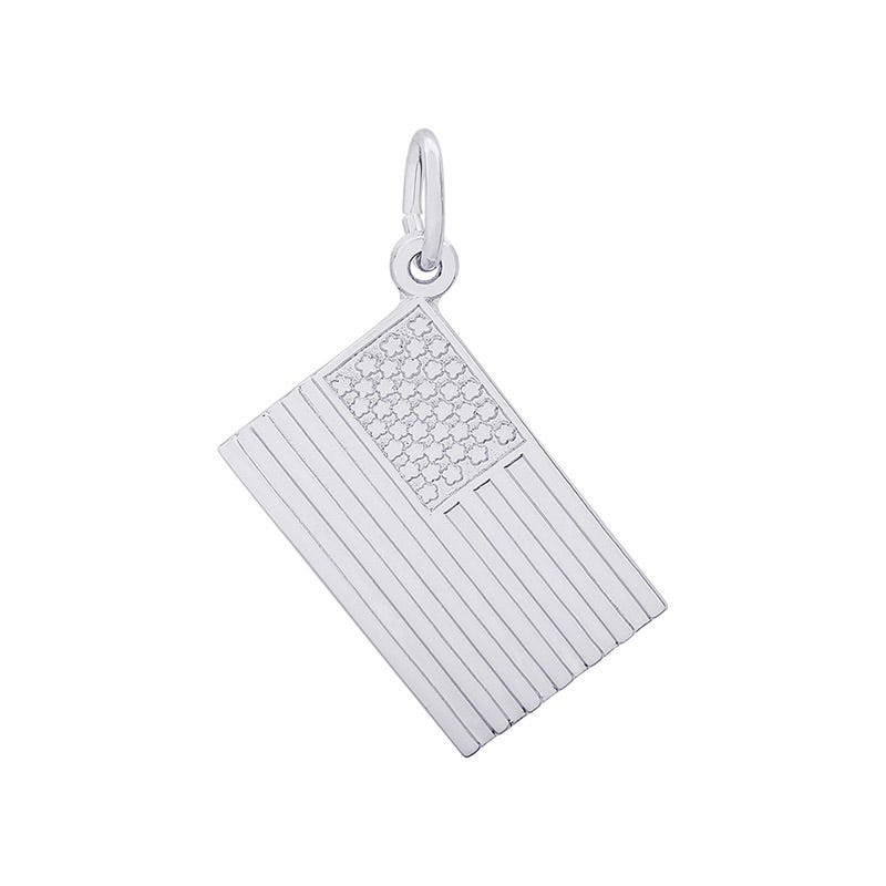 Flag Sterling Silver Charm