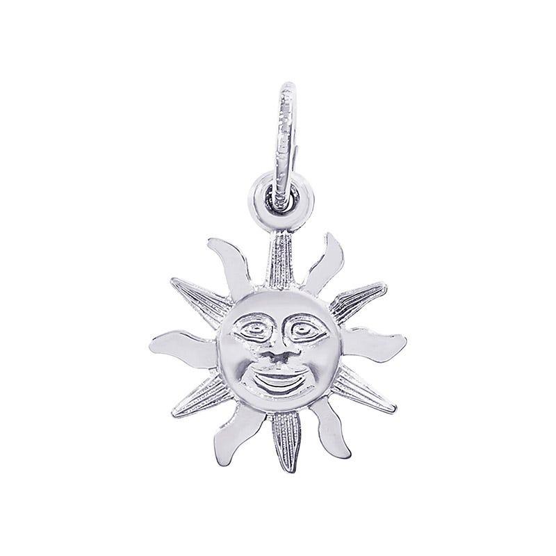 Sunburst Sterling Silver Charm