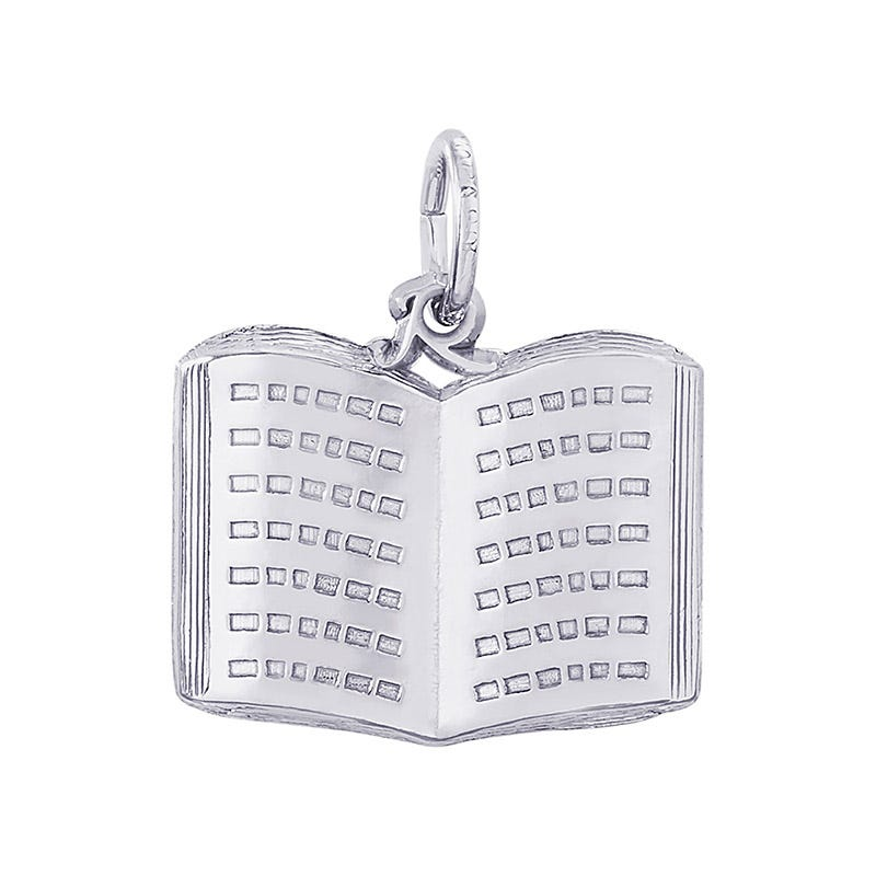 Open Book Sterling Silver Charm