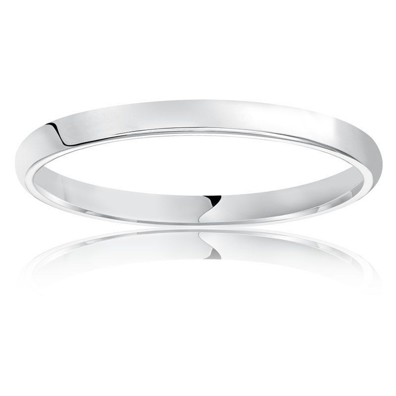 Ladies' Classic Wedding Band in 14k White Gold