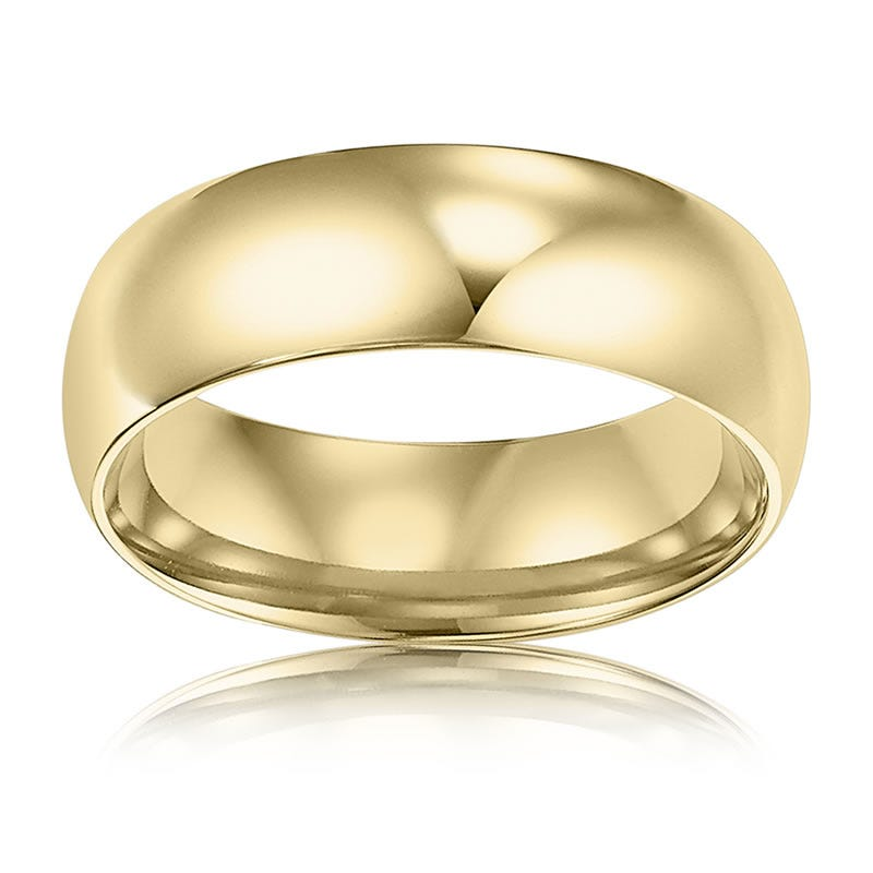 Men's 6mm Comfort Fit Wedding Band in 14k Yellow Gold, Size 9