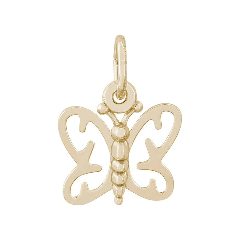 Butterfly 14K Yellow Gold Charm