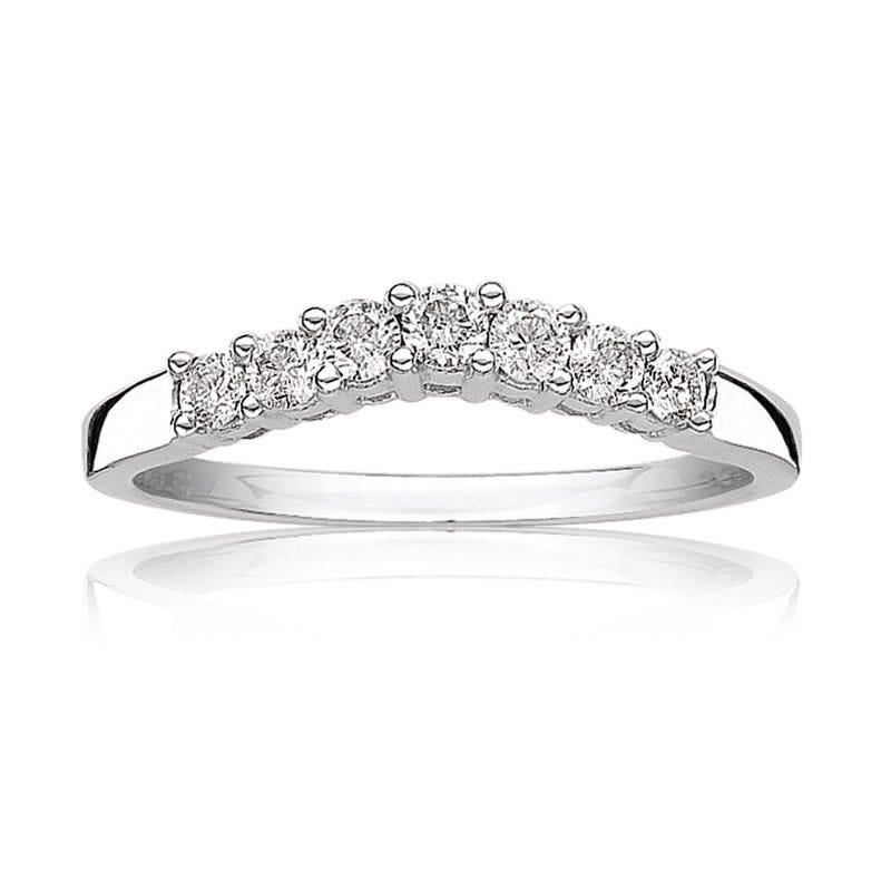 Diamond 1/3ct. t.w. Brilliant-Cut Anniversary Band in 14k White Gold