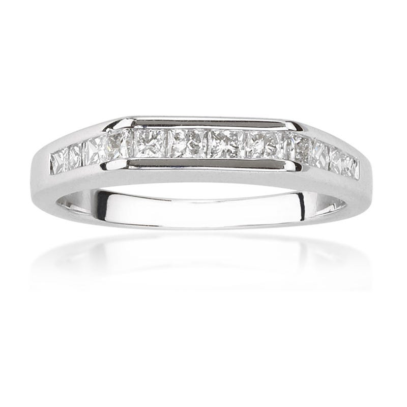 Princess-Cut Diamond Anniversary Band ½ ct. T.W. Channel Set