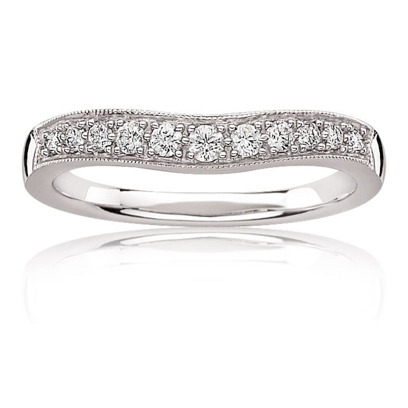 Diamond Contour Band ¼ ct. T.W. in 14k White Gold