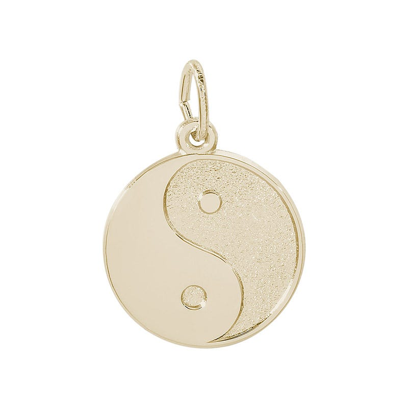 Ying Yang 14K Yellow Gold Charm