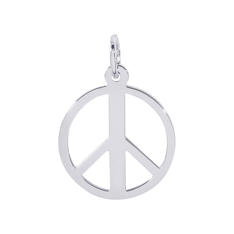 Sterling Silver Peace Symbol Charm