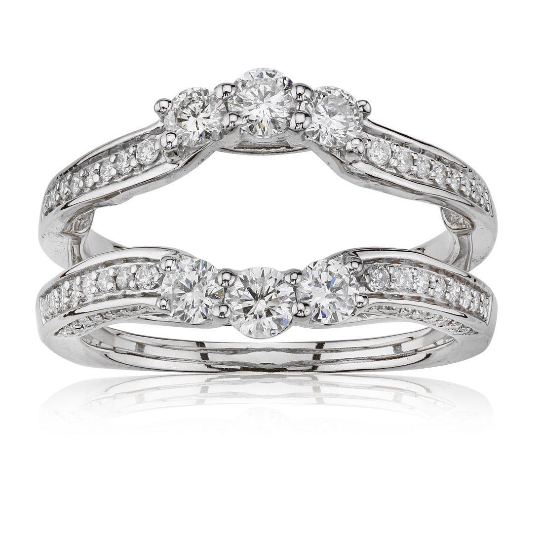 Brilliant-Cut 1ct. t.w. Diamond Engagement Ring Enhancer in 14k White Gold